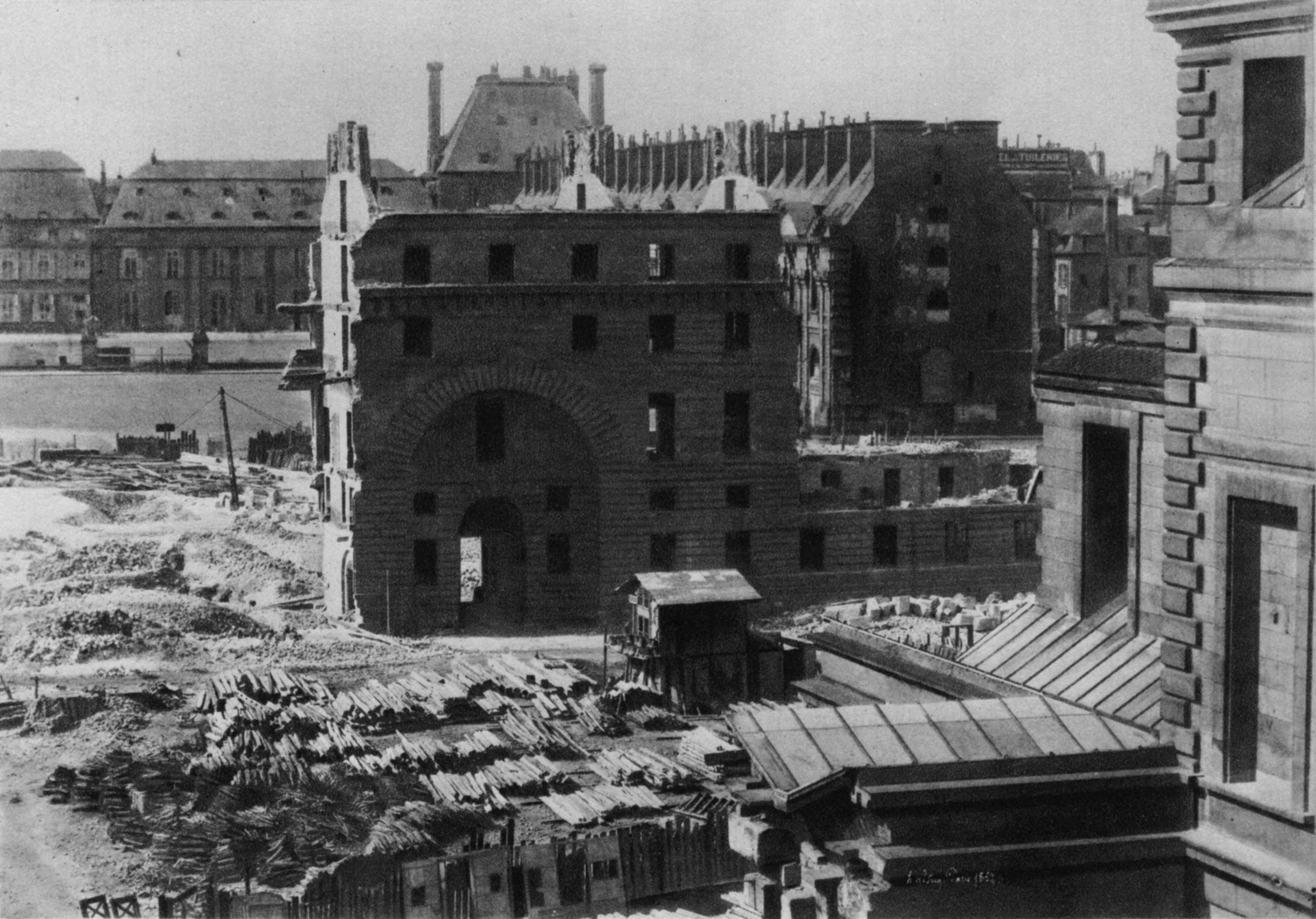 Demolition of houses for the Place du Carrousel in 1852 – Christ 1949 Fig134